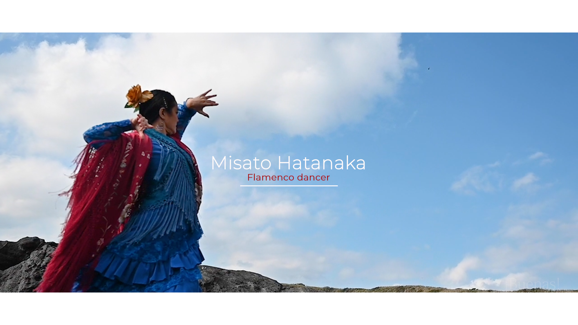 Promotional shoot by drone Misato Hatanaka (Flamenco dancer)