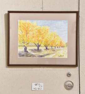 「銀杏の並木」