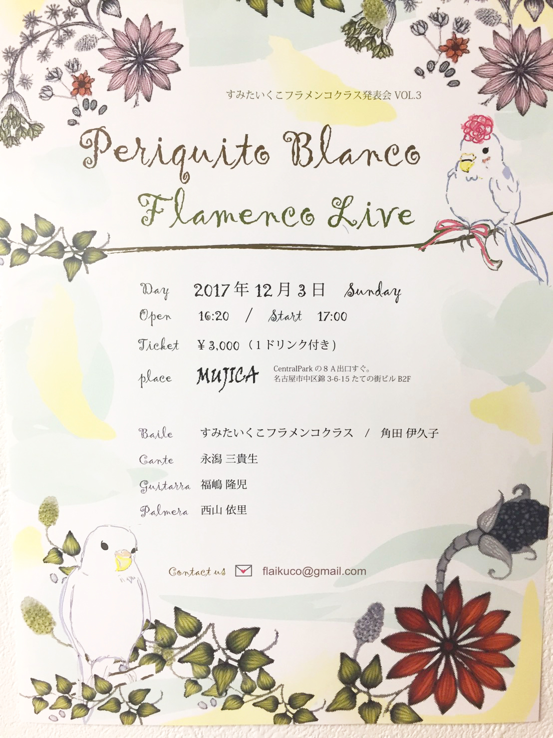 すみたいくこフラメンコクラス発表会  (2017/12/3)